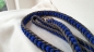 Preview: US Cord Leine 8 fach geflochten  grau, royal, denim - flach